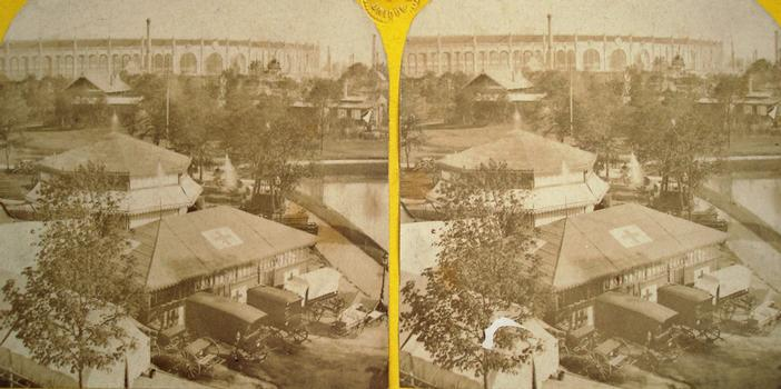 Universal Exposition of 1867 — Palais du Travail — Stereoscopic View