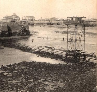 Rollende Brücke in Saint-Malo — Stereoskopische Ansicht um 1900