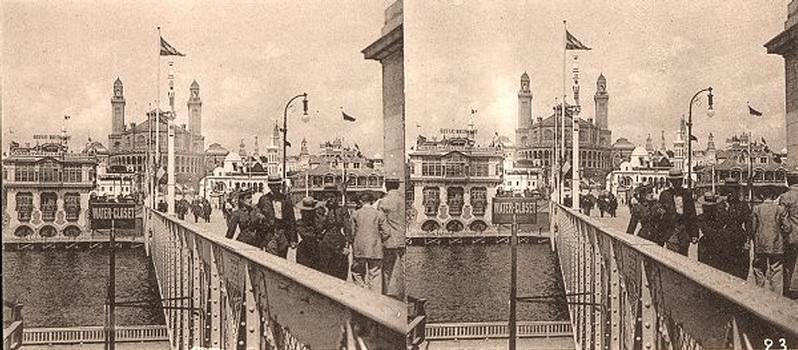 Weltausstellung 1900: Pont d'Iéna. Palais du Trocadéro – Stereoskopische Ansicht