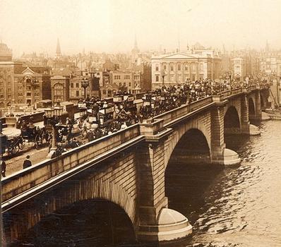 London Bridge Stereoskopische Ansicht um 1900 Aus der Sammlung des Stéréo-Club Français.