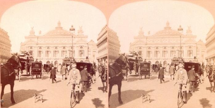 Opéra de Paris. Vue stéréoscopique, vers 1900.