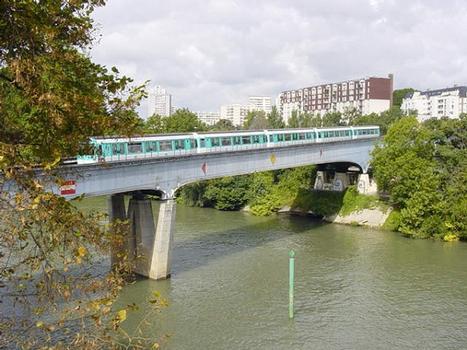 Paris Metro Line 8 Bridge across the Marne at Maisons-Alfort and Charenton.