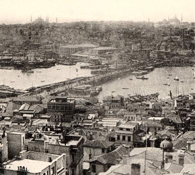 Galata Bridge, Istanbul — Stereoscopic view around 1900