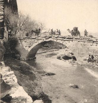 Karawanenbrücke, Izmir — Stereoskopische Ansicht um 1900