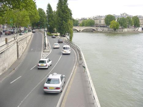 Gorges-Pompidou-Schnellstrasse in Paris