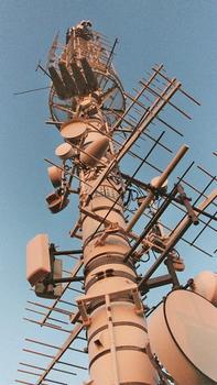 Antenna mast on the Merkur near Baden-Baden.