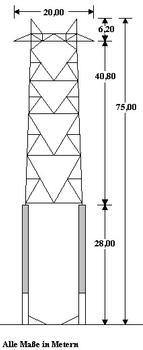 Pylône à haute tension dans le lac Santa-Maria, Grisons, Suisse