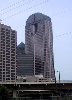 JP Morgan Chase Tower from the East, near Central Expressway