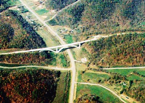 Natchez Trace Parkway arches, crossing over TN 96W.