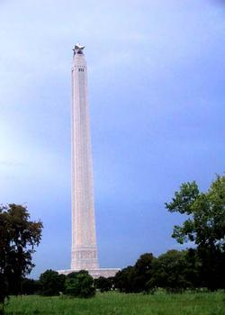 Site where Sam Houston was wounded and his horse killed in the battle. Monument sits on top of rise where Santa Anna&#0039s campstood. Texians attacked across open ground on opposite side of the Monument, as Santa Anna&#0039s men, tired from a long march, apparently slept