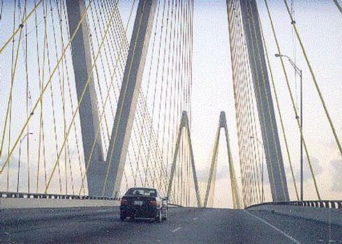 Fred Hartman Bridge.
