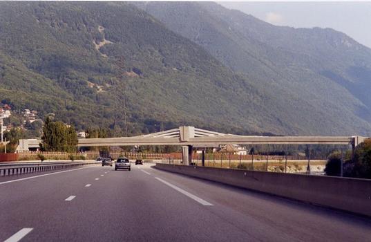 Saint-Rémy-de-Maurienne Bridge as seen from Autoroute A43