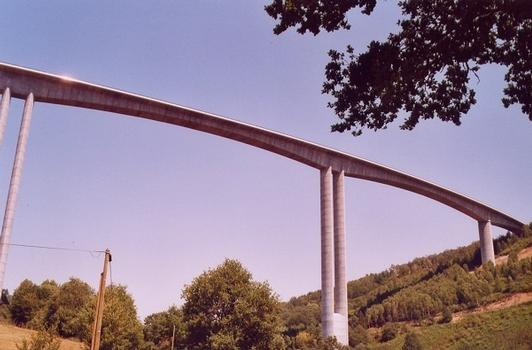 Viaduc de Tulle Hauteur maximale du tablier: 150 mètres