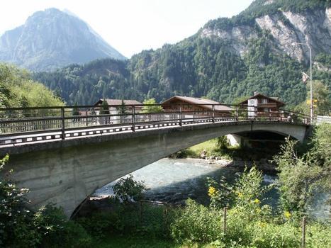 Aarebridge in the village of Innertkirchen