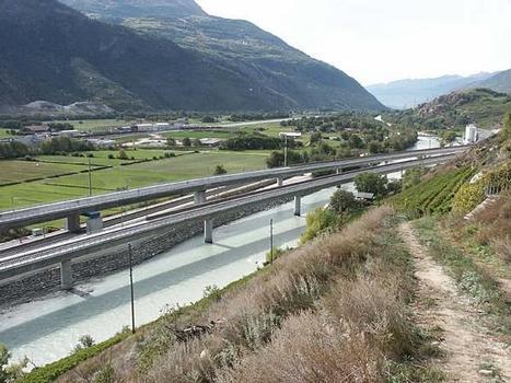 Neat Lötschberg, Rhonebrücken bei Raron