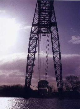 Newport Transporter Bridge, Newport, Gwent, pays de Galles. Prise à 8 heures du matin