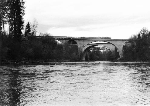 Ponts ferroviaires sur l'Iller à KemptenVue aujourd'hui.