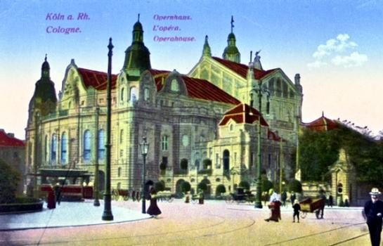 First opera house in Cologne as seen in a postcard dated 1920