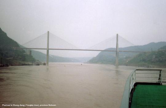 Yangtze Bridge between Chongqing and Fengdu.