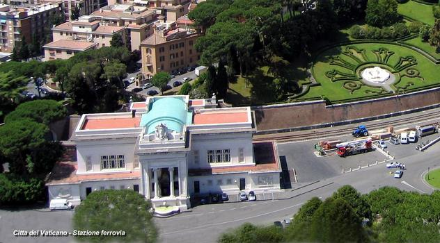 Railway station at the Vatican.