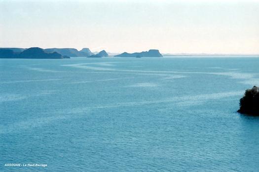 ASSOUAN – Le «Haut-Barrage», une petite partie des 5244 km² du Lac Nasser