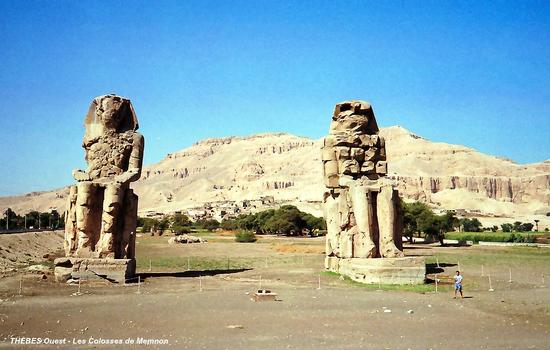 Funerary Temple of Amenophis III Colossal statues of Memnon