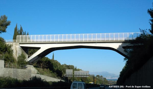 Super-Antibes Overpass across the A 8 at Antibes
