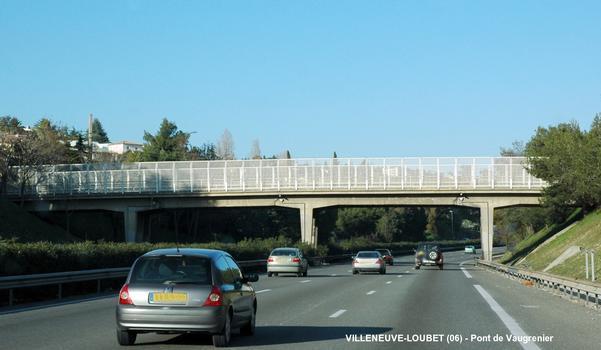 VILLENEUVE-LOUBET (06, Alpes Maritimes) – Pont « de Vaugrenier » sur l'autoroute A 8 – E 80
