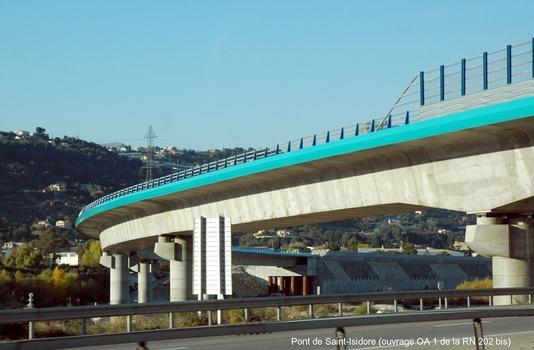 Communes de SAINT-LAURENT-DU-VAR & NICE (06, Alpes Maritimes) – Pont de la RN 202 bis (ouvrage OA 1) sur la rivière Var et l'autoroute A 8 – E 80