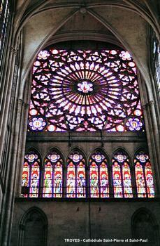TROYES (10,Aube) – Cathédrale Saint-Pierre et Saint-Paul, vitraux du transept sud