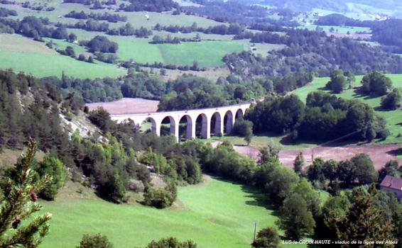 Alps Railroad Line Viaduct at Les Fauries (km 209.5)