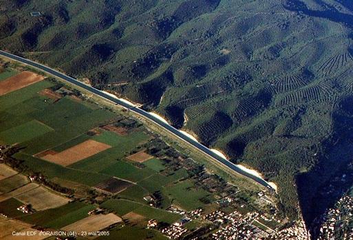 Canal de l'Usine EDF d'ORAISON (04) – le canal d'amenée