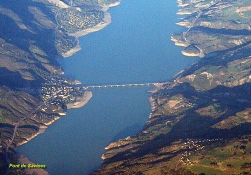 Stausee Serre-Ponçon und Savines-Brücke