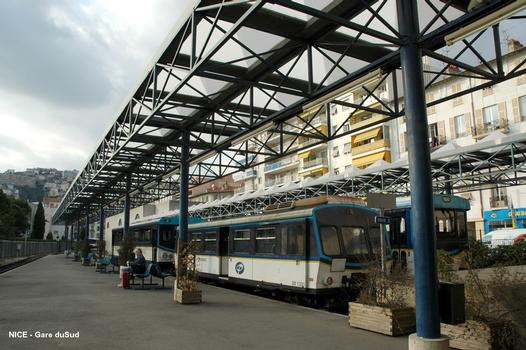 New Gare du Sud in Nice used as terminus for the Train des Pignes from Digne-les-Bains since 1991