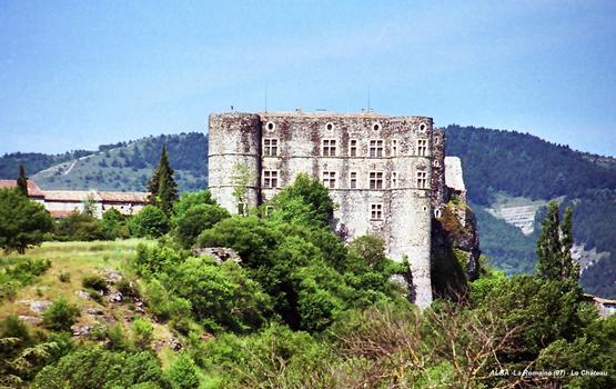 ALBA-La ROMAINE (07, Ardèche) – Le Château médiéval édifié sur un neck volcanique