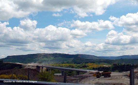 Commune de LE MONASTIER (48100, Lozère) – viaduc de La Colagne, construction de la voirie de raccordement de l'ouvrage (RN 88)