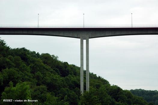 RODEZ (12000, Aveyron) – viaduc de Bourran, en surplomb de la RN 88