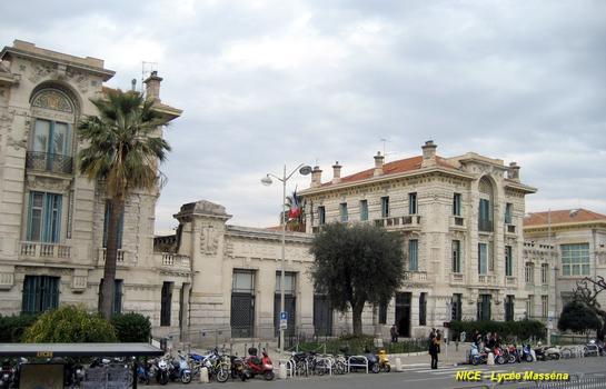 NICE (06, Alpes-Maritimes) - Lycée Masséna, façades sur l'avenue Félix Faure, le bâtiment actuel est de 1931