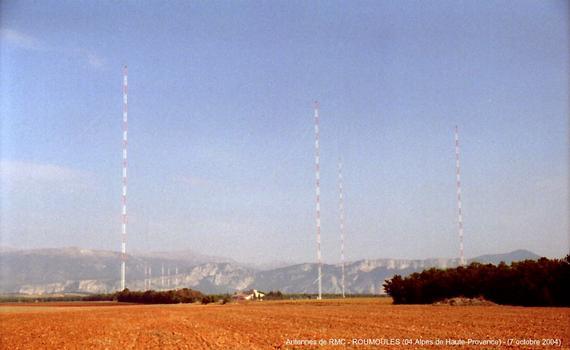 ROUMOULES (04,Alpes de Haute-Provence) – Les antennes de Radio Monte-Carlo