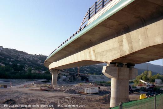 Pont de Saint-Isidore, chantier RN 202-bis (06, Alpes-Maritimes)