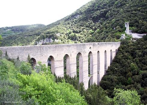 SPOLETE (Ombrie, Pérouse) – PONTE delle TORRI, pont-aqueduc du 14e siècle