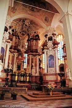 VILNIUS – L'Université, église Saint-Jean, le maître-autel