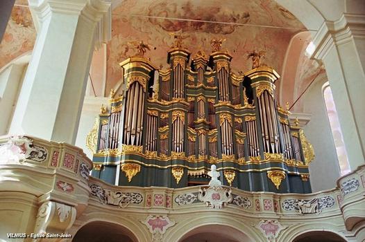 VILNIUS – L'Université, église Saint-Jean, orgue de tribune