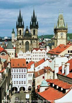 PRAGUE – Eglise Notre-Dame de Tyn (Panna Marie pred Týnem), imposante construction gothique édifiée du 14e au 17e siècle, l'intérieur, en restauration, est de style baroque