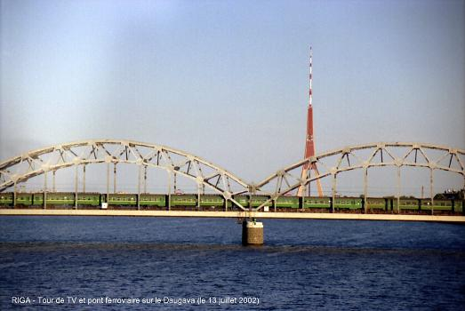 Railroad Bridge & Television Tower, Riga