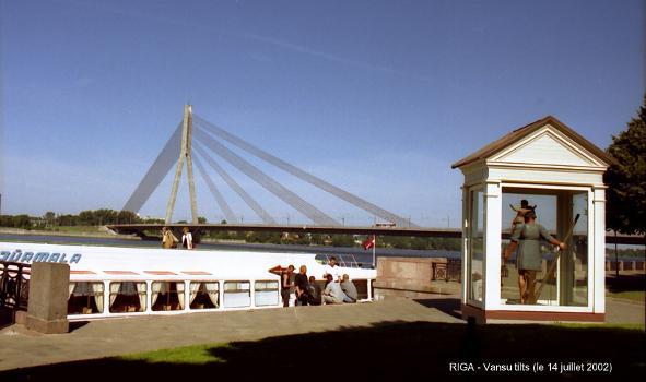 Vansu Bridge across the Daugava, Riga.