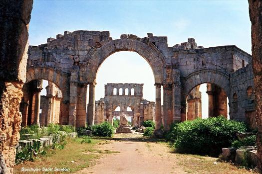 Aleppo - Ruins of the church of Saint Simon