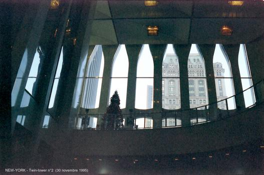 Two World Trade Center, inside the elevator hall