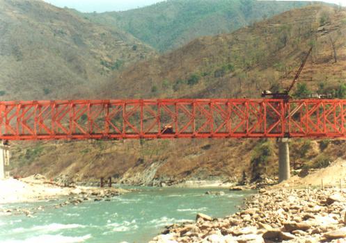 Tamur river bridge on the Dharan to Dhankuta road Nepal