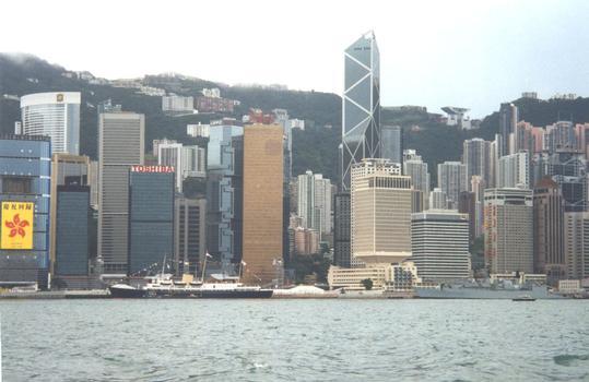 Skyline of Hong Kong. Bank of China, Prince of Wales Building, etc.
